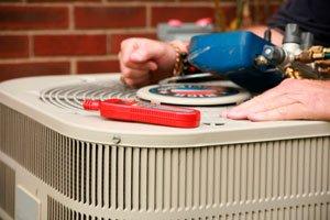 HVAC Maintenance Technician's Toolkit on Outdoor Unit