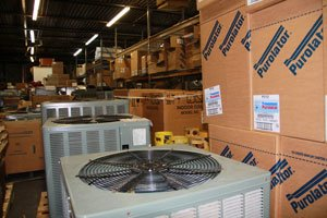 HVAC products and systems in dealr's truck