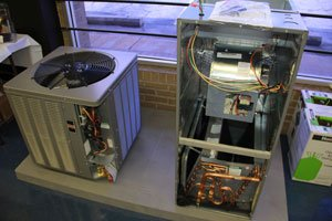 Residential Heating Systems on Display in Store